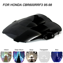 цена на ABS Windscreen For Honda CBR600 1995 1996 1997 1998 Double Bubble Motorcycle CBR 600 F3 Windshield Wind Deflectors