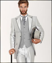 2015 Custom Made font b Men s b font Wedding font b Suits b font Silver