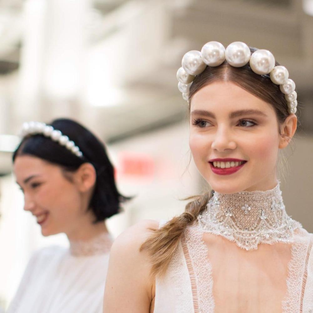 Miwens Summer Fashion Pearl Headbands For Women 2019 Luxury Geometric Bridal Elegant Girls Gift Hair Hoop Jewelry Party   Headwear