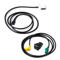 beler USB & AUX Switch Plug Cable Kit for VW MK5 MK6 Golf Jetta MK5 SCIROCCO RCD510 2006 2007 2008 2009 2010