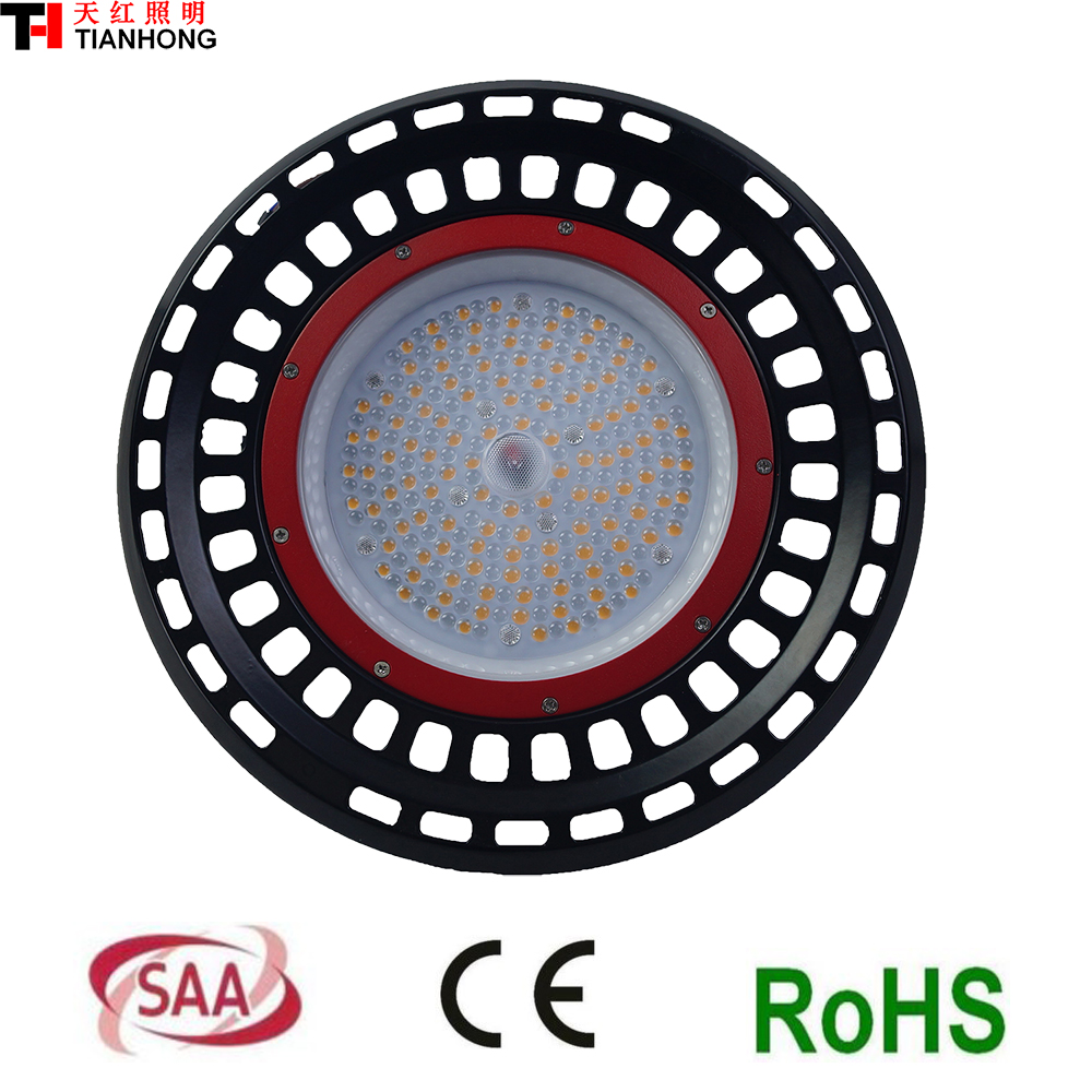 SAA CE ROHS PSE IP65 LED high bay light 130lm/w 5 years warranty UFO led high bay light warehouse light 100w Lumileds 3030 leds high quality 30w led pendant light with ce emc saa rohs gs ul