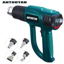 Bocal termorregulador para embrulho, pistola de calor industrial, controle inteligente, 2000w 220v eu, display lcd, ar quente