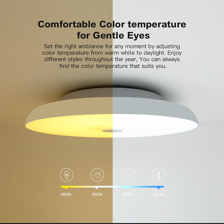 HTB1OyFPXAT2gK0jSZFkq6AIQFXaZ Modern LED ceiling Lights home lighting 25W 36W 52W APP Bluetooth Music light bedroom lamps Smart ceiling lamp