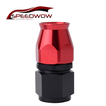 цена на SPEEDWOW Straight AN10 PTFE Hose End Swivel Aluminum Oil Fuel Reusable Hose End Fittings Adapter Red and Black