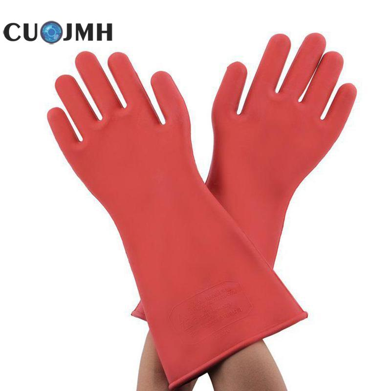 цены на Insulating Gloves 12 Kv High Voltage Electrical Insulating Safety Protective Rubber Gloves 40cm Insulating Gloves