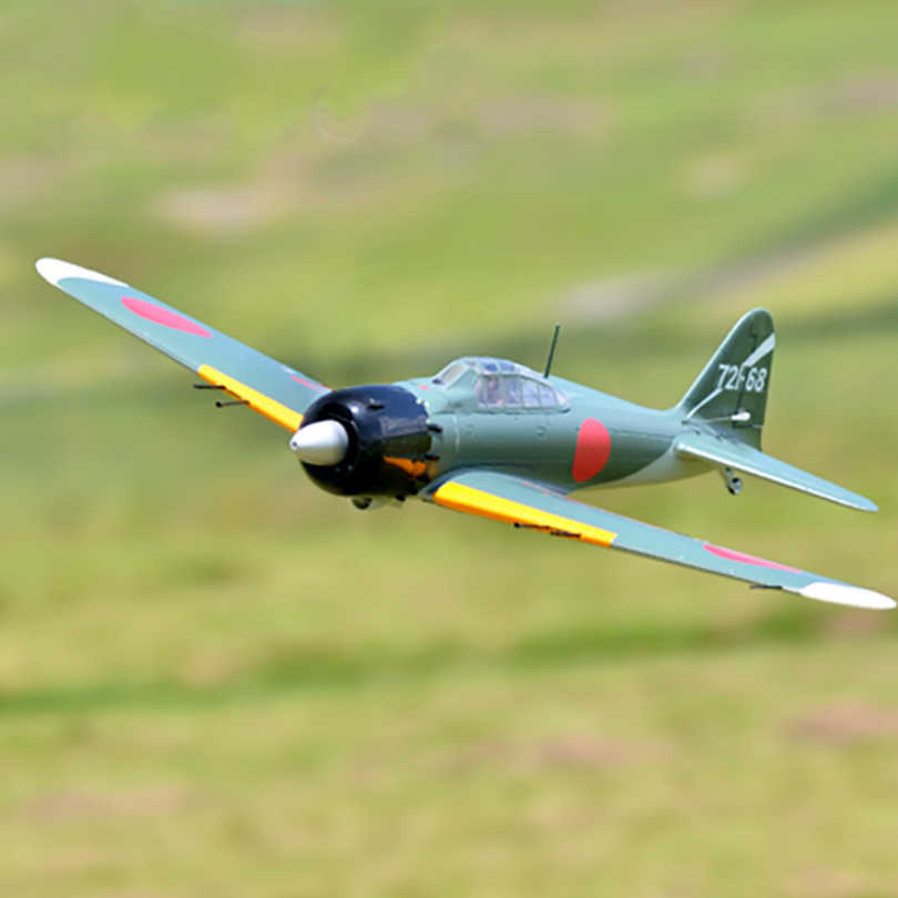 Wingspan with Flaps Retracts RC Airplane PNP 43.3 No Radio, Battery, Charger FMS Zero A6M5 Fighter 6CH 1100MM