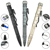 Светодиодный 8-в-1 мульти-Функция самообороны гироскопа тактическая ручка, выживания на природе, для повседневного использования инструмен...