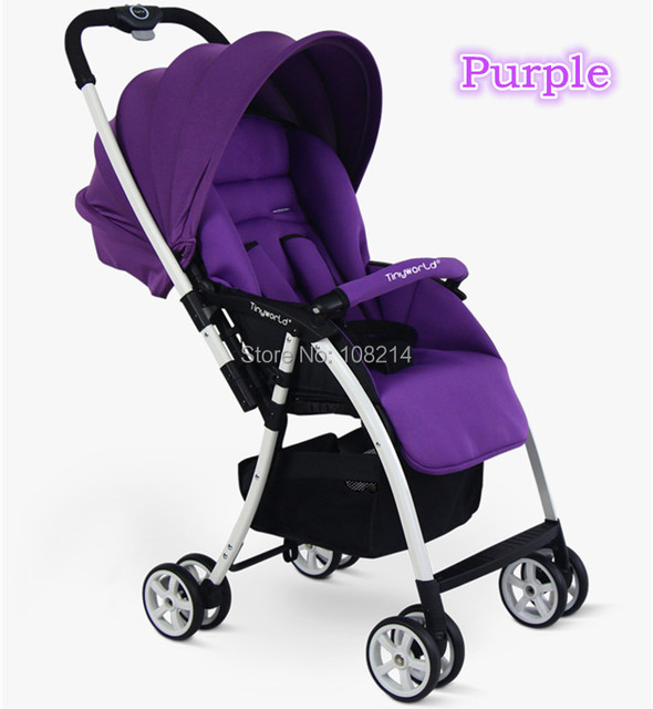 2014 New Brand Tiny World Baby Pram Red/Purple/Blue/Green for Your Choices Baby Stroller For Baby Of Under 15KG Free Shipping