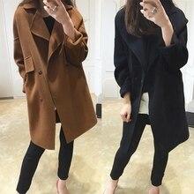 4XL 3XL 2017 Winter Fashion Women New Coat Long sleeve Medium Long High quality Wool Coat Loose Super Warm Woolen Coat Women