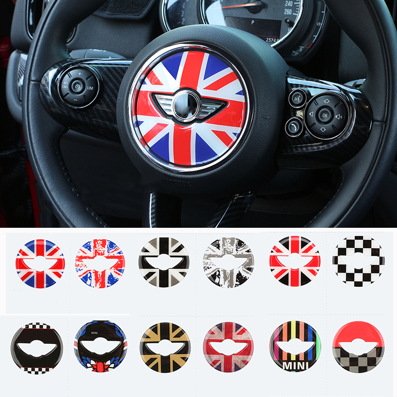 OutdoorKing For MINI For Cooper JCW F54 F55 F56 F60 New Countryman Steering Wheel Center Sticker Decal Decoration Car Styling Accessories Car Decoration Color : 6