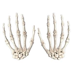 Image 5 - 1 par de decoração realista, tamanho de vida, esqueleto, mãos, plástico, falso, osso de mão, zumbi, festa, adereços assustadores