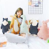 60cm Cute Plush Shark Toy Dolls Soft Stuffed Creative Pillow Lovely Cat Kawaii Animal Doll Gift for Girlfriend Pig Kangaroo