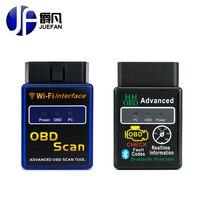 Profissão JUEFAN Wifi Interface bluetooth OBD2 Scanner ELM 327 OBD II Suporta Sistema Android IOS PC OBD2 Ferramenta De Diagnóstico