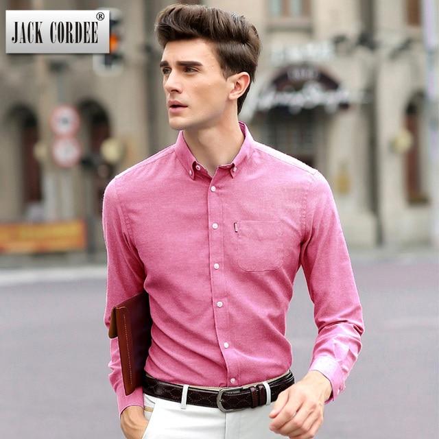 JACK CORDEE 2017 New Dress Shirt Men Slim Fit Long Sleeve Solid ...