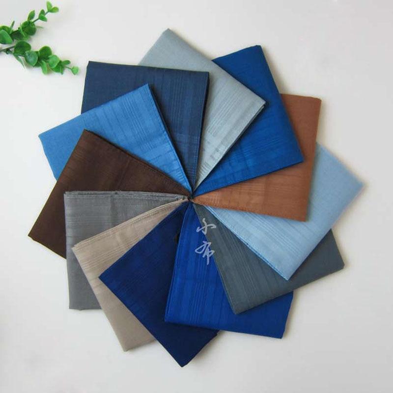 5Pieces/lot Unisex Solid Color Cotton Handkerchiefs Men Pocket Square Hanky Women 12Color 43*43cm