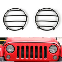 2pcs/set Metal New Headlight Guards Cover Protector Round Decoration Fit For 2007-2016 Jeep Wrangler JK Car Styling Covers