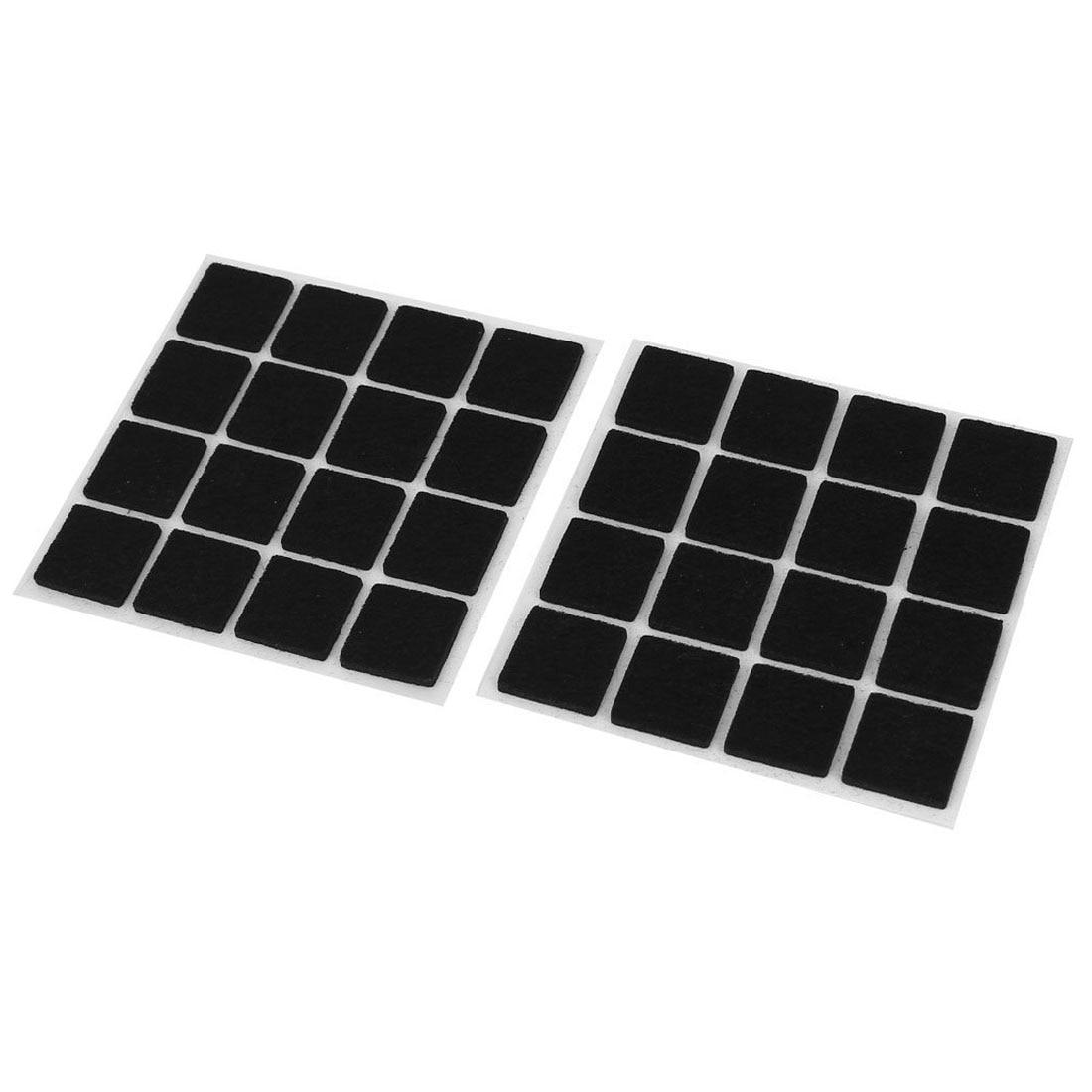 GSFY-Self Adhesive Floor Protectors Furniture Felt Square Pads 32pcs