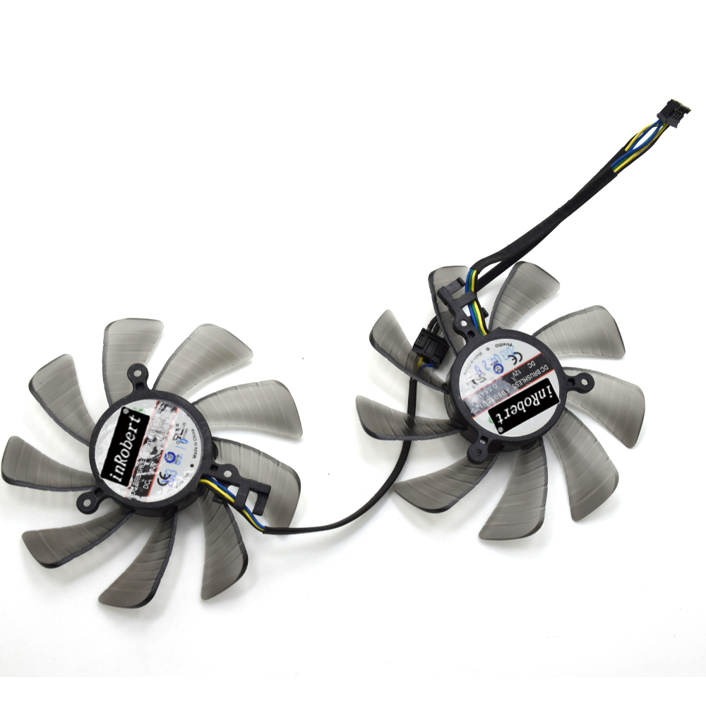 85MM Firstd FD9015U12S DC 12V 0.55A 4PIN Vapor-X Dual Cooler Fan For Sapphire XFX Radeon HD7950 HD7970 Graphics Card Fans ntk fd7010h12s dc 12 v 0 35a 4pin 4 draht dreibettzimmer fan ersatz fur ati radeon hd7990 hd 7990 graphics grafikkarte lufter