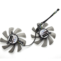 New 85MM Firstd FD9015U12S DC 12V 0 55A 4PIN Vapor X Dual Cooler Fan For Sapphire
