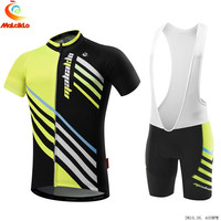 Men's 2018 Cycling Jersey set Neon Green MTB Bike Clothes Summer Bicycle Clothing Cycling Set Maillot Conjunto Ropa Ciclismo
