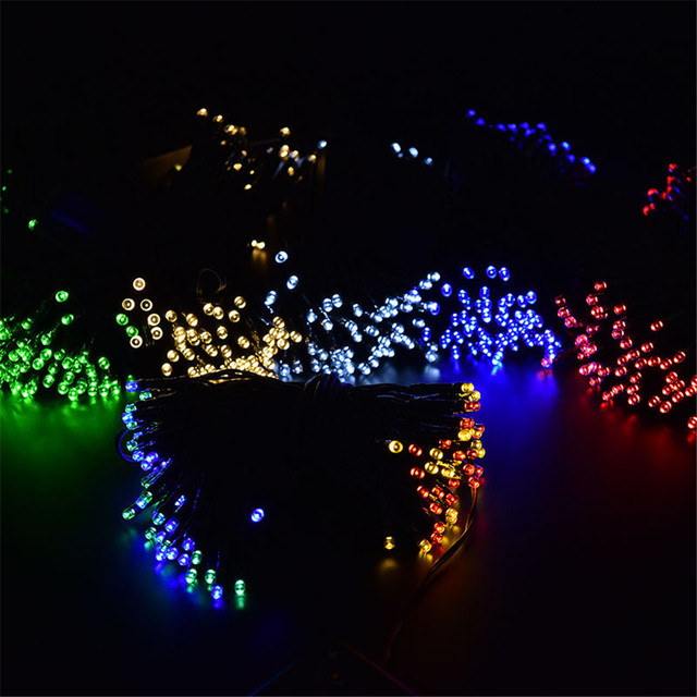 Hot Sale Christmas Gift Solar LED String Lights for Party Festival Outdoor Indoor 100 LEDs Gazebo Yard Patio Lantern Rope Lights