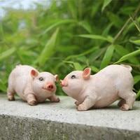 Adorable Animal Crafts Simulation Animal Sculptures Piggy Pig Ornaments Garden Ornaments Garden Ornaments