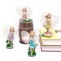 Fleur Anges Princesse Miniatures Fée Jardin Décorations Résine Artisanat Micro Paysage Décor Ornement Bonsaï Terrarium Figurine