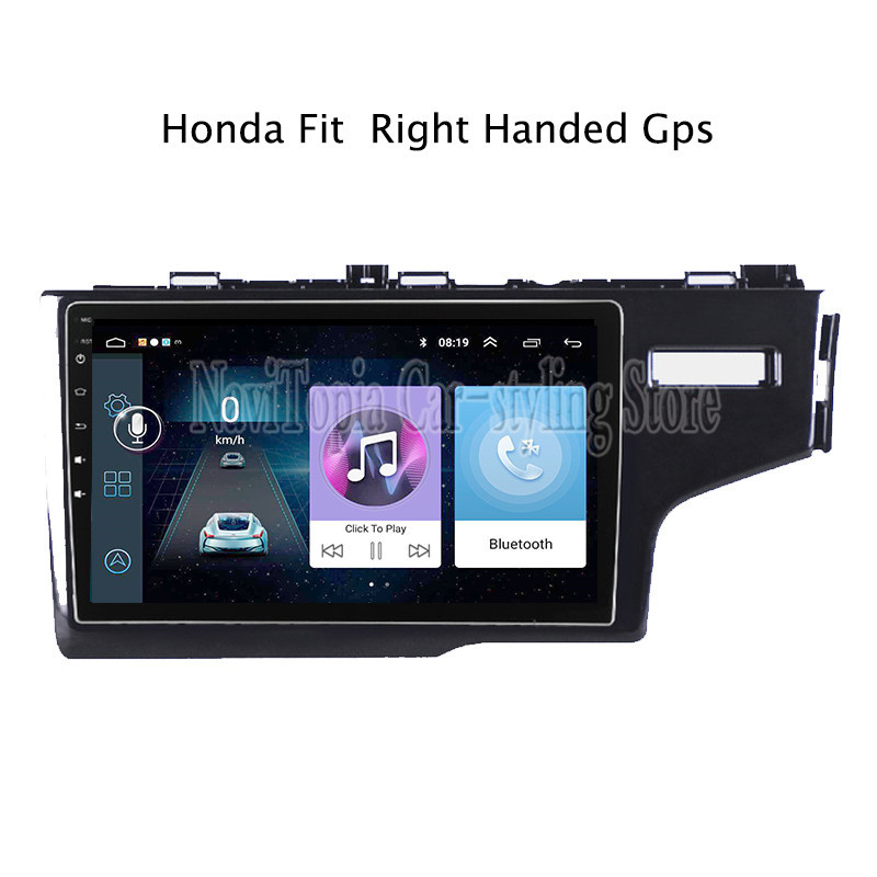 9inch <font><b>Android</b></font> 9.0 Car Radio GPS Navigation Multimedia Stereo DVD Player for <font><b>Honda</b></font> <font><b>Fit</b></font> 2014 <font><b>2015</b></font> 2016 2017 2018 RHD image