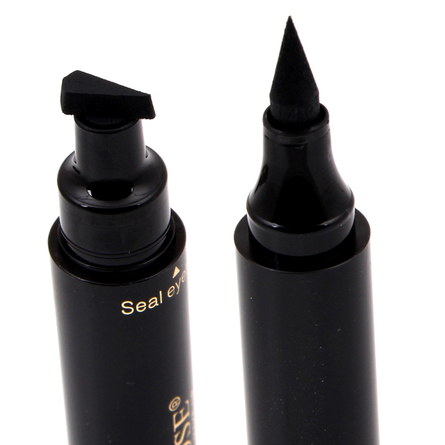 Hot New Long Lasting Eyes Liner Liquid Make Up Pencil Waterproof Black Double-ended Makeup Stamps Eyeliner Pencil 2