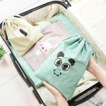 Cartoon Draw Pocket Travel Accessories Drawstring Bag Business Trip Storage Bag For Cloth And Shoe Functional Bag Box