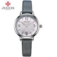 JULIUS Logo Originele Merk Horloges Casual Dames Jurk polshorloge Zilver Zwart Goud Relogios Feminino Reloj Orologi Donna JA-929