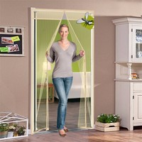 2017 Anti Mosquito Magnetic Soft Screen Door Curtain Summer Magic Mesh Window Screen Insect Fly Bug