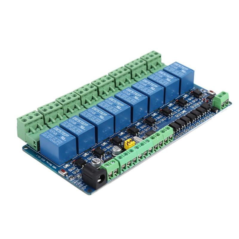 Modbus RTU 8 Channel 12V Relay Module 8 Road Input RS485 TTL Communication