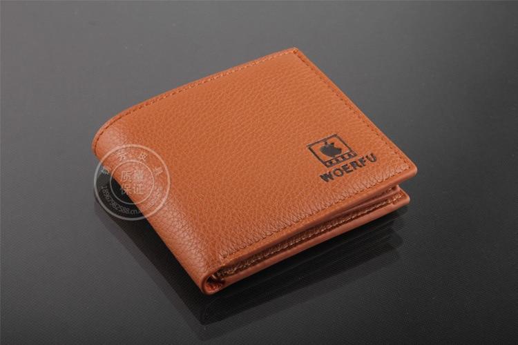 cb504eaf New Apple LOGO Mens Genuine Leather Wallet Money Credit Card ...