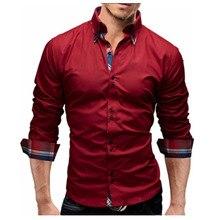 Men Shirt 2018 Spring New Brand Business Men'S Slim Fit Dress Shirt