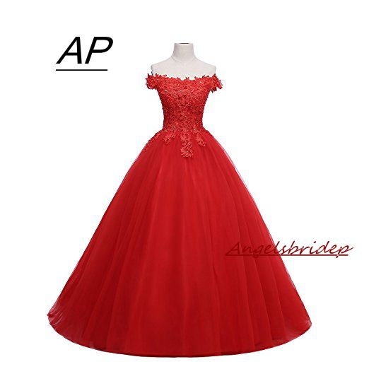 9d17a80738c ANGELSBRIDEP Red Off Shoulder Quinceanera Dresses 2019 Sexy Charming  Applique With Sequined Sweet 16 Debutante Gowns Custom Made
