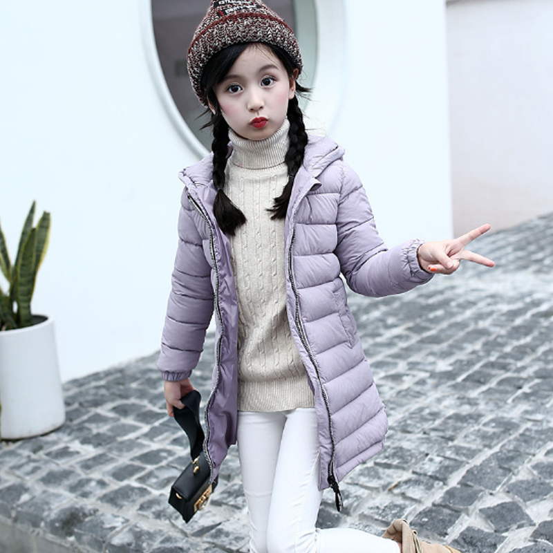 2017 Fashion Winter Boys Down & Parkas Solid Cotton Hooded Tops Kids Girls Jacket Casuall Children Clothing Outwear Coats 3dp017 2016 winter thin down jacket fashion girls boys cotton hooded coat children s jacket outwear kids casual striped outwear 16a12