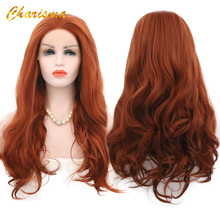 Charisma Body Wave Lace Front Wigs Free Part Red Wig Synthetic Lace Fr