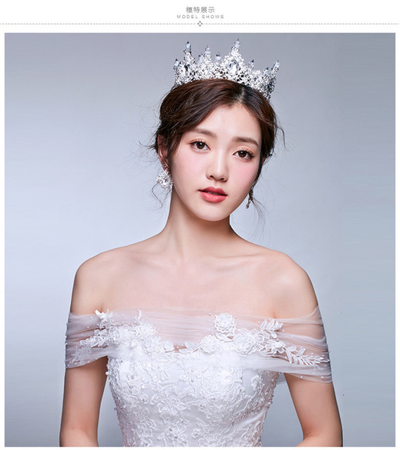 Luxurious Wedding Veil With Crystal European Designs Crown Bridal Hair Accessories Beautiful Headband velos de novia