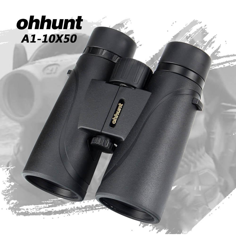 ohhunt Binoculars A1-10X50 Camping Hunting Scopes Bak4 Roof Prism Binocular Telescopes Optics Lens Support Tripod Mounting цена