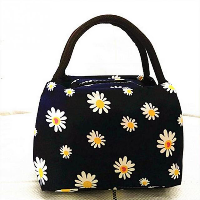 2018 Print Portable Insulated Canvas Lunch Bag Thermal Food Picnic Bags For Women Kids Men