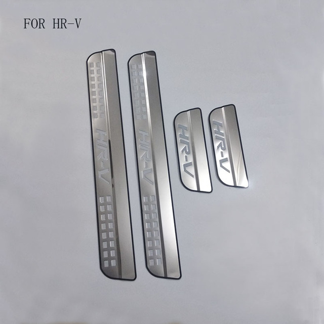 Auto Part Fit For Honda HRV HR V Vezel 2014 2015 2016 Stainless Steel Scuff Plate Door Sill Guards Thresholds Cover Trims 4Pcs