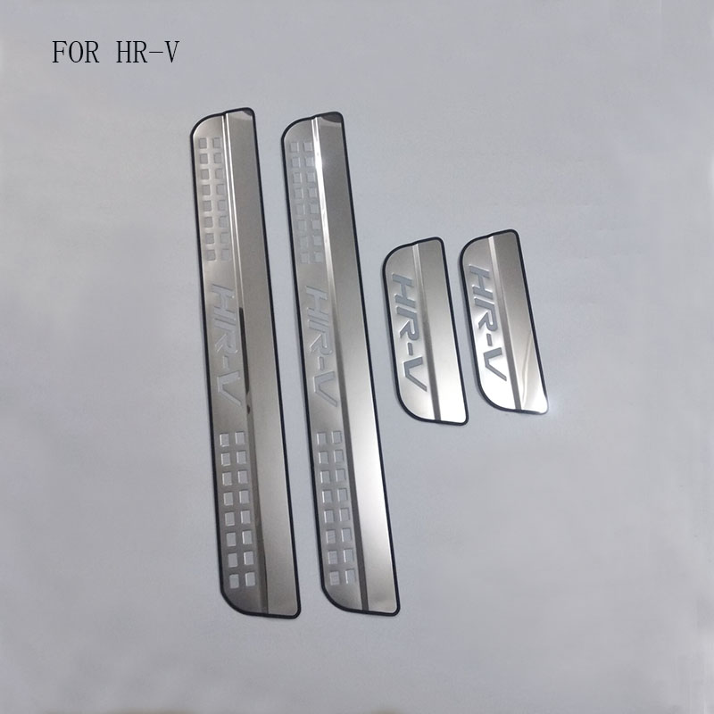 Auto Part Fit For <font><b>Honda</b></font> <font><b>HRV</b></font> HR-V Vezel 2014 2015 2016 Stainless Steel Scuff Plate Door Sill Guards Thresholds Cover <font><b>Trims</b></font> 4Pcs image