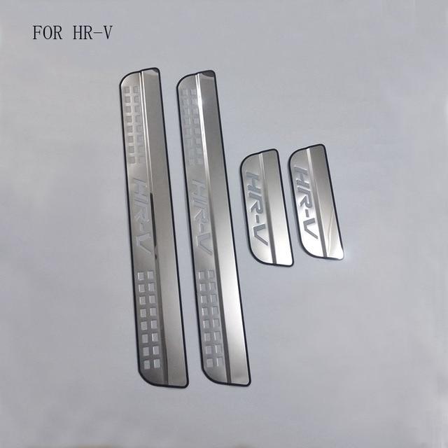 السيارات جزء صالح لهوندا HRV HR V Vezel 2014 2015 2016 الفولاذ المقاوم للصدأ لوحة بالية عتبة الباب الحرس عتبات غطاء الزخارف 4 قطعة