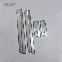 Pièces automobiles adaptées à la Honda HRV HR V Vezel 2014, 2015, 2016, plaque en acier inoxydable, seuils de porte, 4 pièces, capots de bordure
