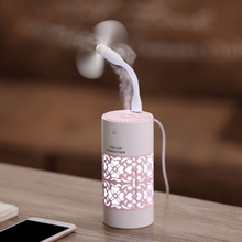 все цены на DHaws Portable Air Humidifier USB Ultrasonic Aromatherapy Diffuser + Fan Multifunction Mini Essential Oil Diffuser онлайн