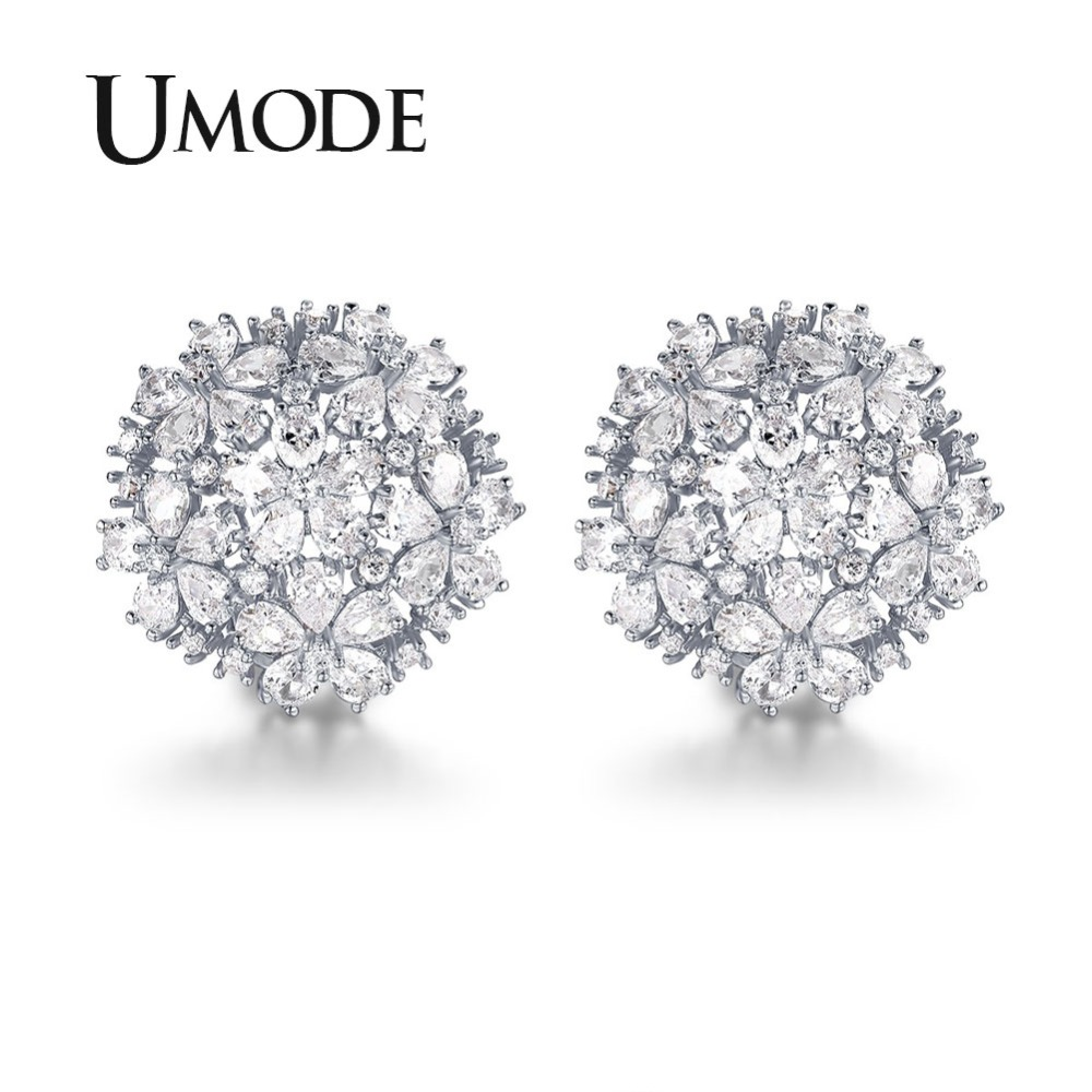 266e9559407 Detail Feedback Questions about UMODE 4.5mmX3mm Pear Cut Cluster Cubic  Zirconia French Clip Stud Earrings Jewelry for Women Fashion Wedding  Brincos Gift ...
