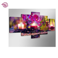 ANGEL S HAND DIY 5 Pcs 5D Full Diamonds Embroidery Peony Flowers Round 3d Diamond Painting