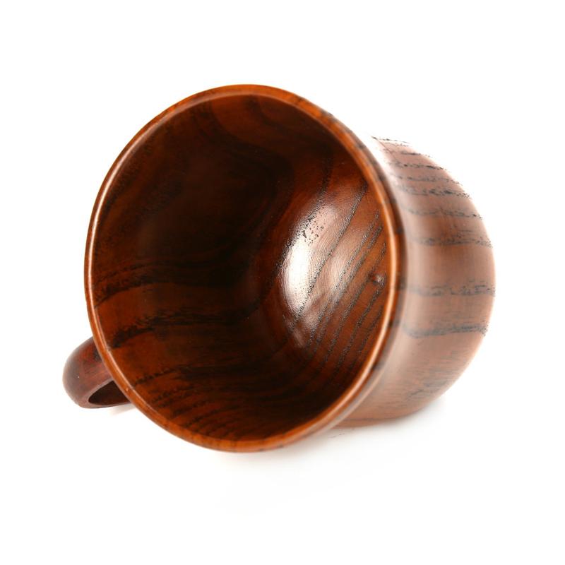 1 Piece Wooden Coffee Mug Wood Tea Cup 250ml Classic Wood Cups and Mugs Coffee Milk Tea Mug Home Cafe Bar Drinking Cup Drinkware (2)