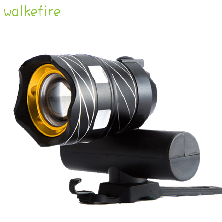 Walkfire Zoomable XM-L T6 LED Bicycle Light Bike Front Top Tube Lamp Waterproof Cycling Focus Torch Headlight USB Rechargeable cree xm l t6 bicycle light 6000lumens bike light 7modes torch zoomable led flashlight 18650 battery charger bicycle clip
